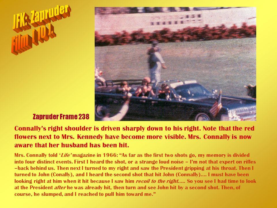 JFK: Zapruder Film [ 10 ]. Zapruder Frame 238